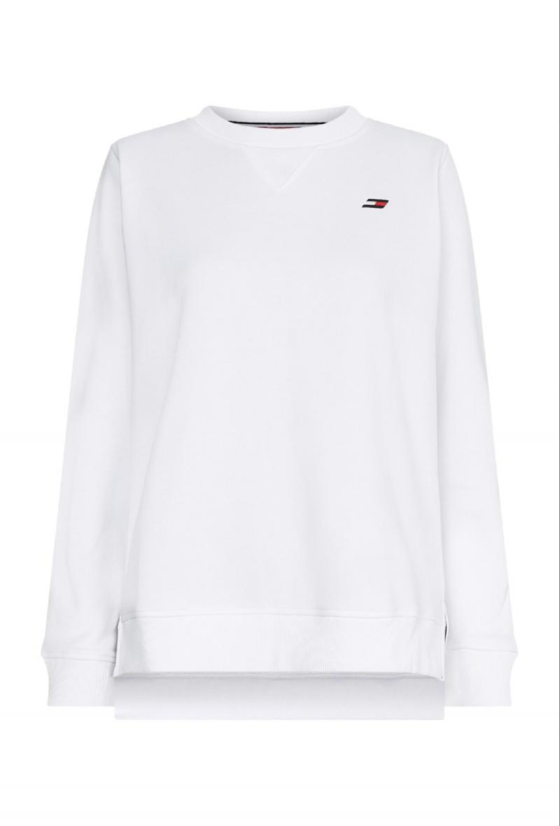 regular c-nk sweatshirt Bianco