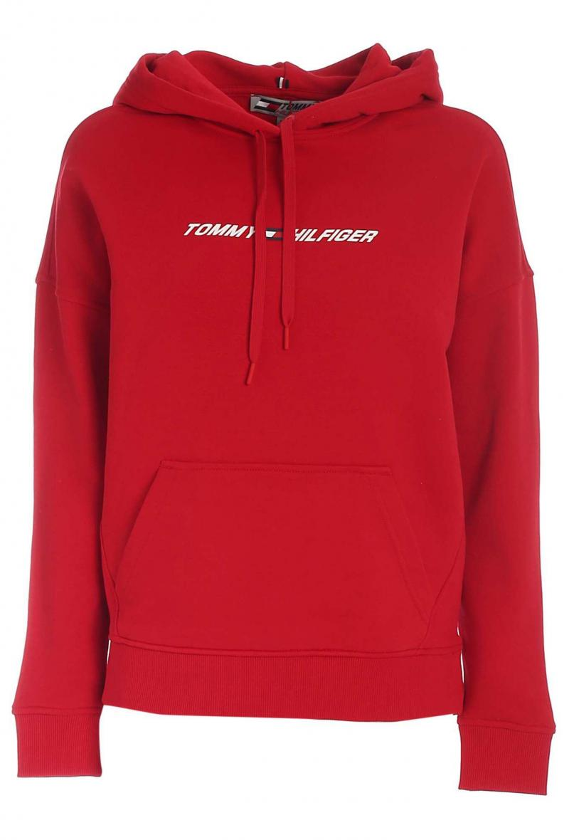 relaxed graphic hoodie ls Rosso<br />(<strong>Tommy hilfiger</strong>)