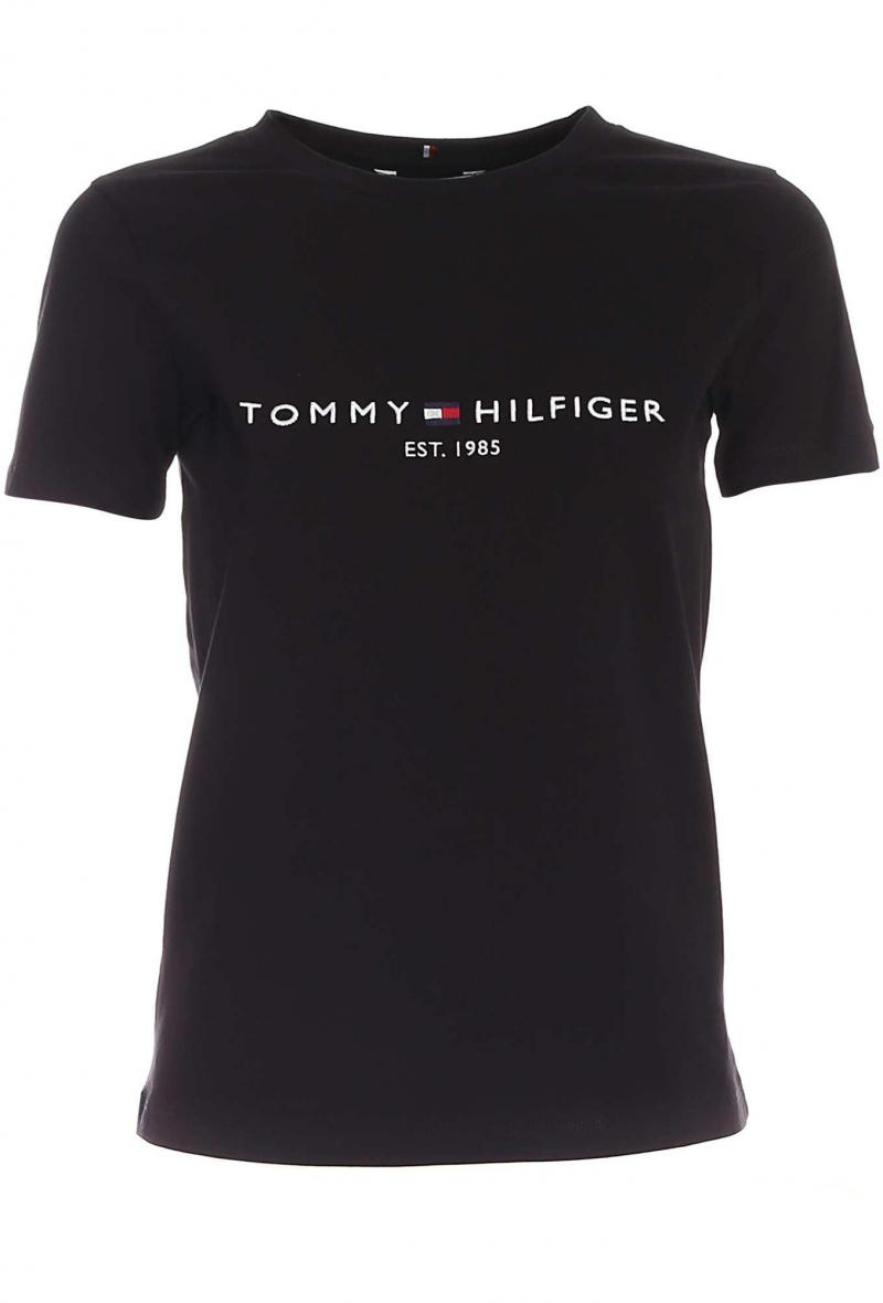 T shirt con ricamo a contrasto Nero<br />(<strong>Tommy hilfiger</strong>)