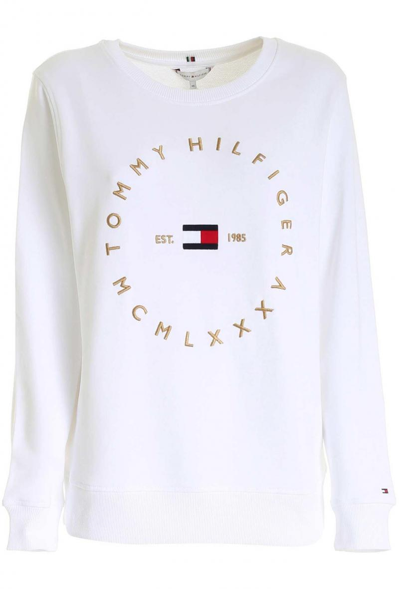 felpa logo circolare Bianco<br />(<strong>Tommy hilfiger</strong>)