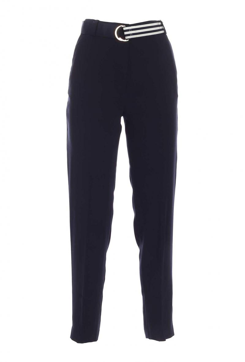 crepe belted tapered pant Blu<br />(<strong>Tommy hilfiger</strong>)