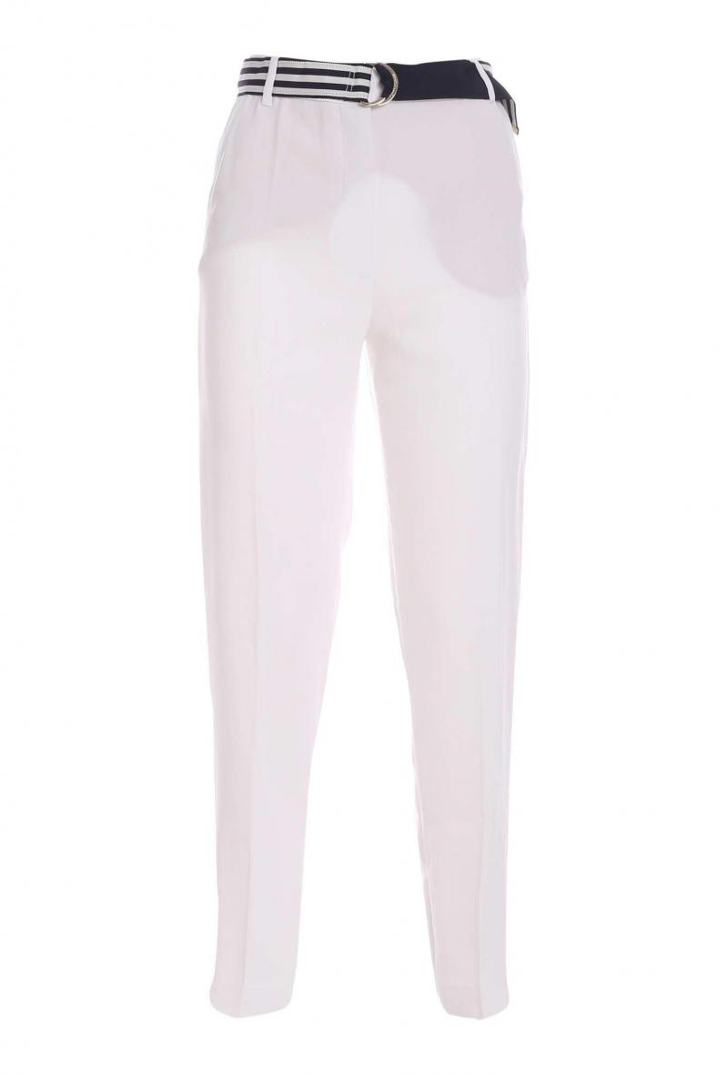 crepe belted tapered pant Bianco<br />(<strong>Tommy hilfiger</strong>)