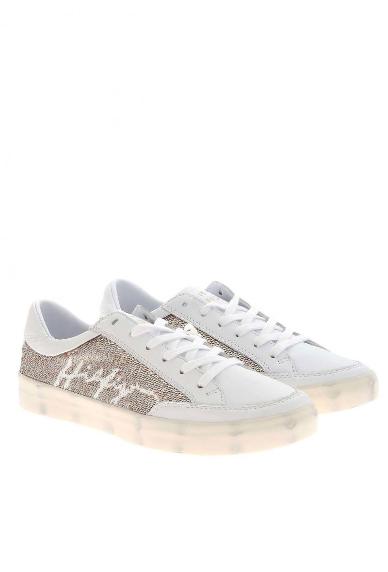 sneakers tommy hilfiger con paillettes sfumate Bianco