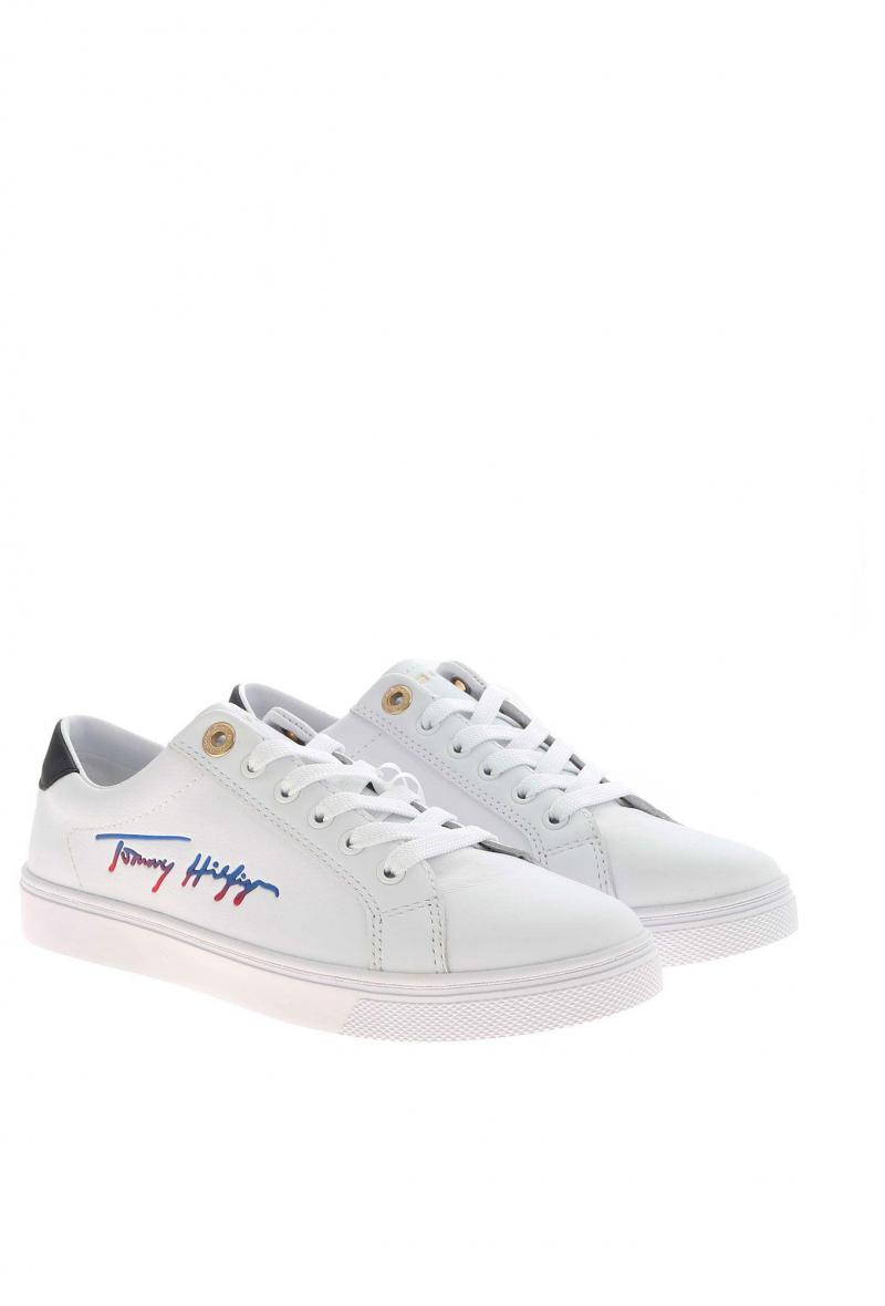 sneakers tommy h. con logo Bianco