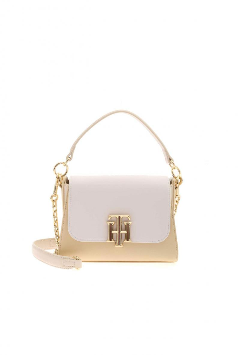 th lock small satchel Bianco